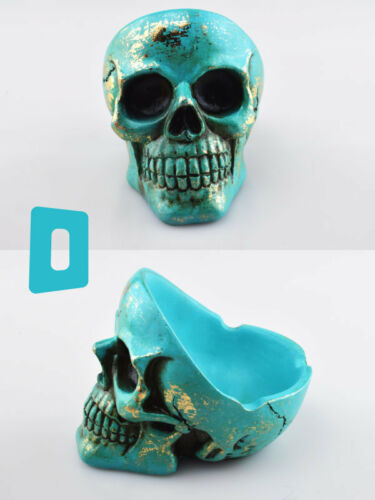 Resin Reclining Skull Ashtray Choose from 4 colours