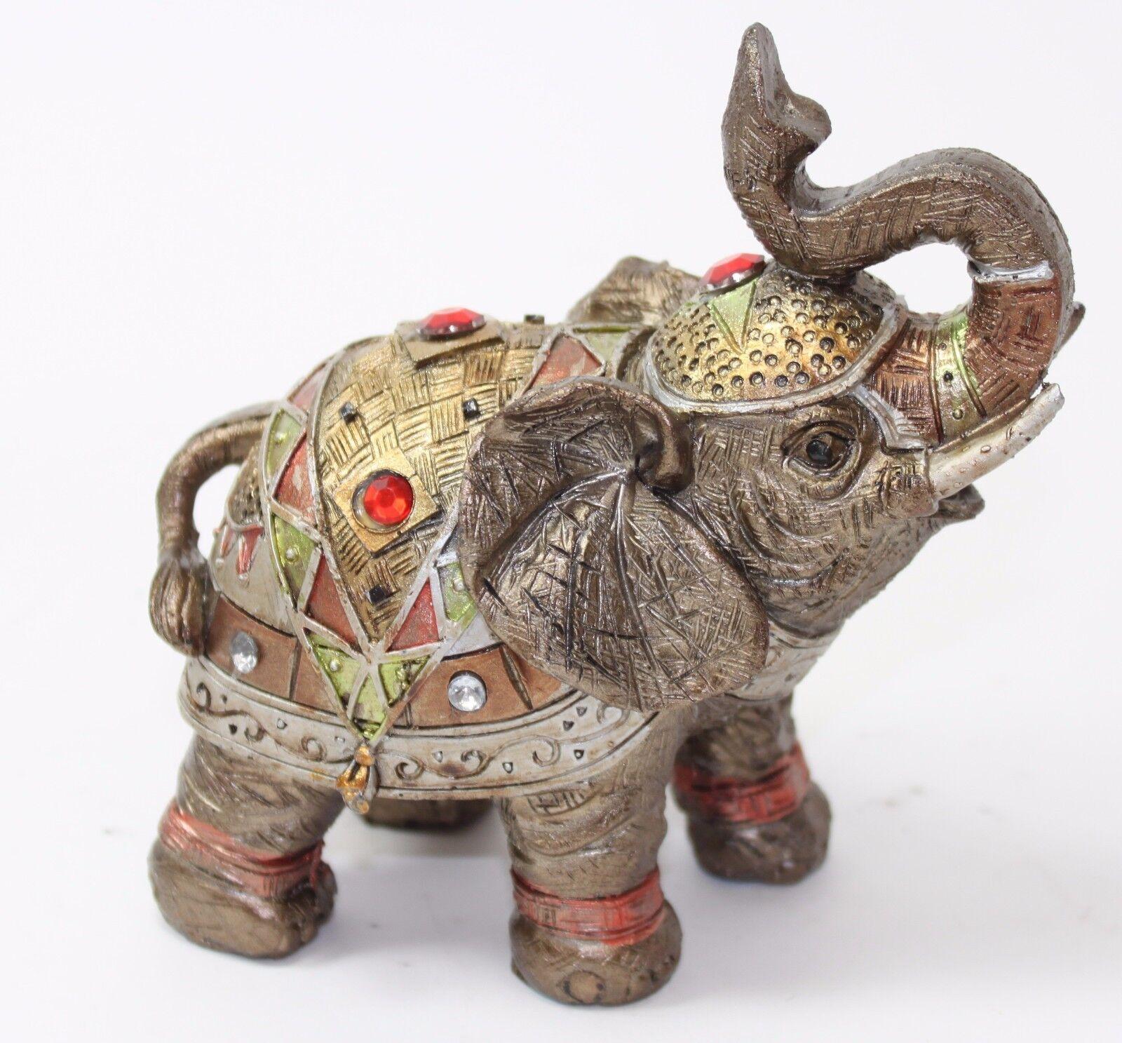 feng shui 5 bronze elephant figurine wealth lucky figurine gift home decor ebay. Black Bedroom Furniture Sets. Home Design Ideas