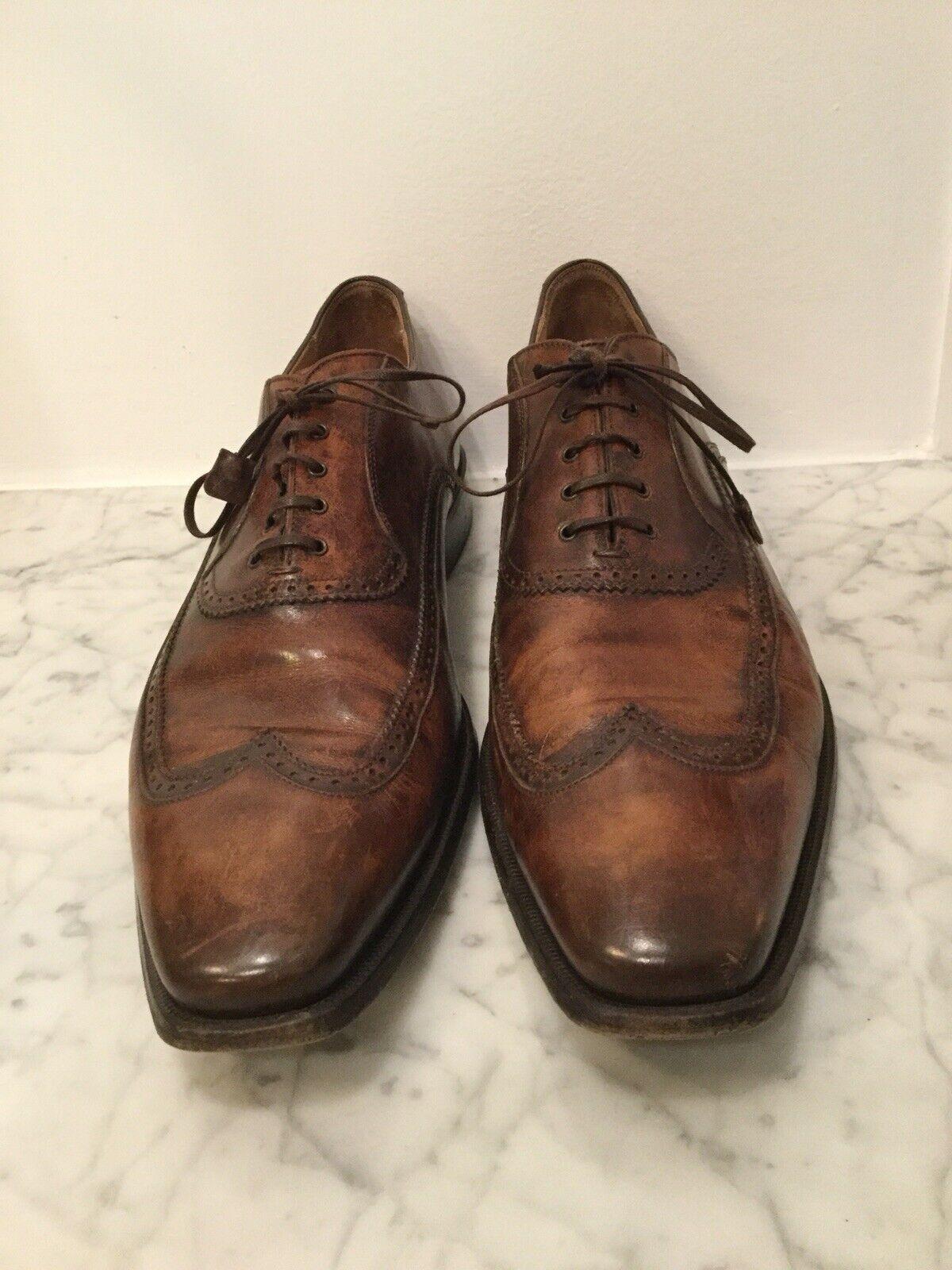 molte concessioni Mens SZ 44 44 44   11 Franceschetti Leather Oxford scarpe. Handmade In . Marrone.  buon prezzo