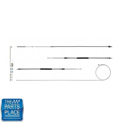 The Right Stuff RSBCX02S Stainless Brake Cable Set with Hardware
