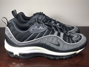 Details about Men's Nike Air Max 98 SE BlackAnthracite Grey Dark Grey AO9380 001 Size 7
