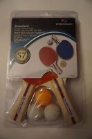 Sportcraft Standard Two Player Ping Pong Table Tennis Set w/ 2 Paddles & 3 Balls