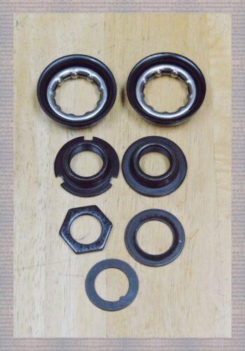Bicycle Bottom Bracket 9-pcs Set Black For 1-Piece Crank 5//16x9-24TPI