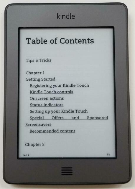 Amazon Kindle Touch 4th Gen. 4GB Wi-Fi 6in Silver Good Condition