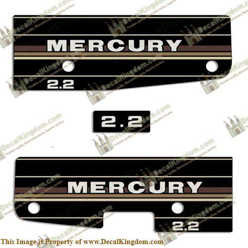 Mercury 1984 - 1985 Outboard Decal Kit (Multiple Sizes Available)3M Marine Grade