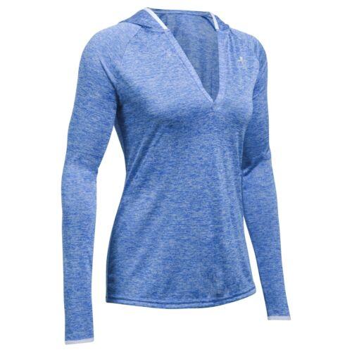 Under Armour Twist Tech Long Sleeve Shirt Hoodie Women Pullover blue 1269181-985