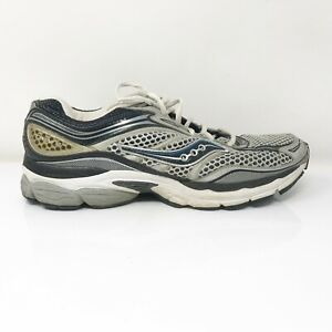 Saucony Mens Progrid Omni 9 20078-2 Gray Silver Running Shoes Lace Up Size 10