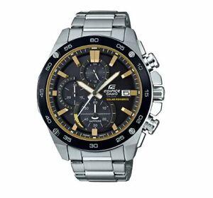 Men's Casio Edifice Solar Power Chronograph Watch EFSS500DB-1BV New
