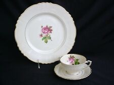 Service for 12 Syracuse China ROSALIE Dinner Plates & Cups & Saucers ROSES!