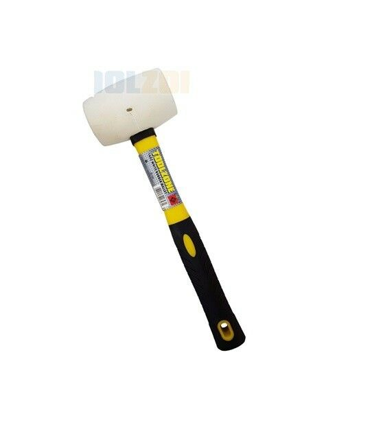 16oz WHITE Rubber Hammer / Mallet w Fibre Handle Camping / Racking / DIY / TOOL