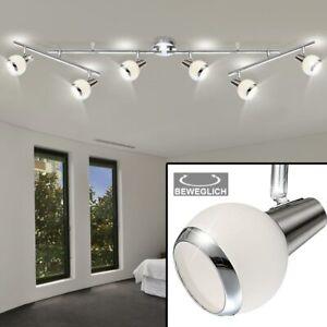 Design LED Decken Spot Lampe beweglich Strahler Beleuchtung Chrom Leuchte Küche