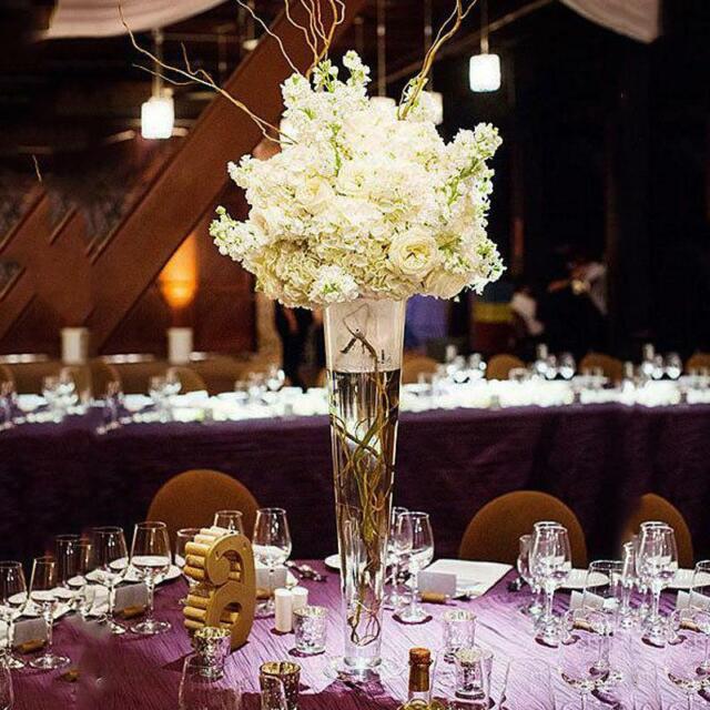 Tall Wine Glass Vase Wedding Centerpiece 5 Open X 20 Height