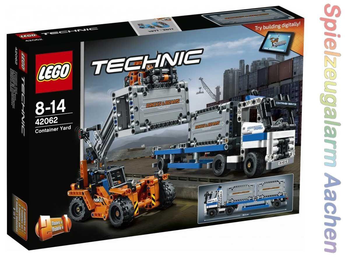LEGO Technic 42062 Container Transport Portalhubwagen mit Lastwagen Contai N1 17