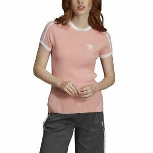 Detalles de Camiseta 3 Stripes adidas Rosa Mujer