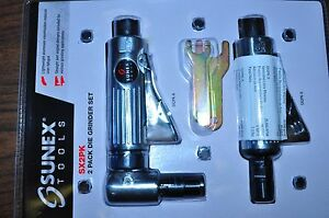 Automotive Sunex SX2PK Right Angle And Straight Die Grinder New Air Grinders