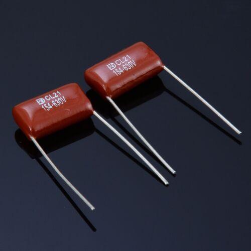 200Pcs 630V 25 values 0.001uf~2.2uf CBB Metal Film Capacitors Assortment Kit