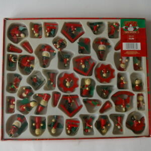 Miniature Christmas Ornaments.Details About Lot Of 49 Wood Miniature Christmas Ornaments In Box Vintage Hand Painted Small
