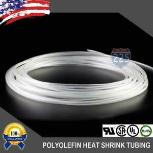 """10/' Feet WHITE 3//16/"""" 5mm Polyolefin 2:1 Heat Shrink Tubing Tube Cable US 10 FT"""
