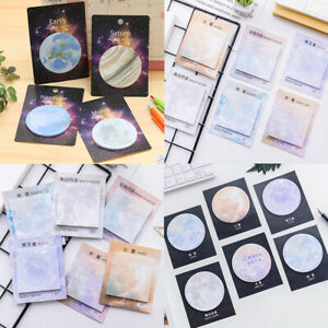 Канцтовары милые Липкие записки Мемо 1PC планет креативный блокнот записная книжка Kawaii