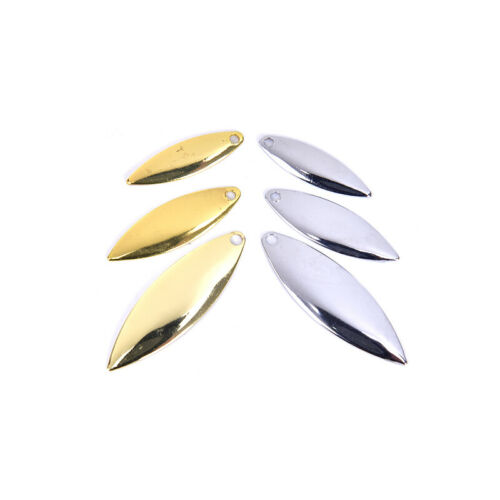 DIY Spinner Bait Fishing LuY pjBWWMU Details about  /50pcs Willow Spinner Blades Smooth Finish