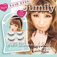Japan Jumily False Eyelashes No4 Cat Eyes 2 Pairs/box