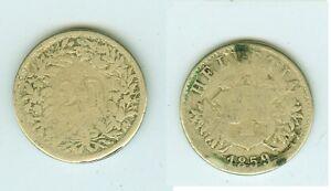 Rational 20 Rappen 1859 Schweiz Lange Lebensdauer