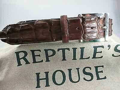 Original Reptile/'s House  Krokoleder Gürtel mit Schliesse Crokogürtel neu unisex