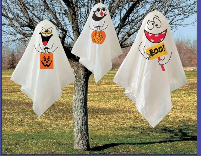 Halloween Spooky Scary Party Pack of 3 Hanging Ghost Decoration Indoor Outdoor