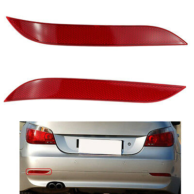 For BMW 5-series E60 03-10 Red RIGHT Side Rear Bumper Reflector Tail Cover