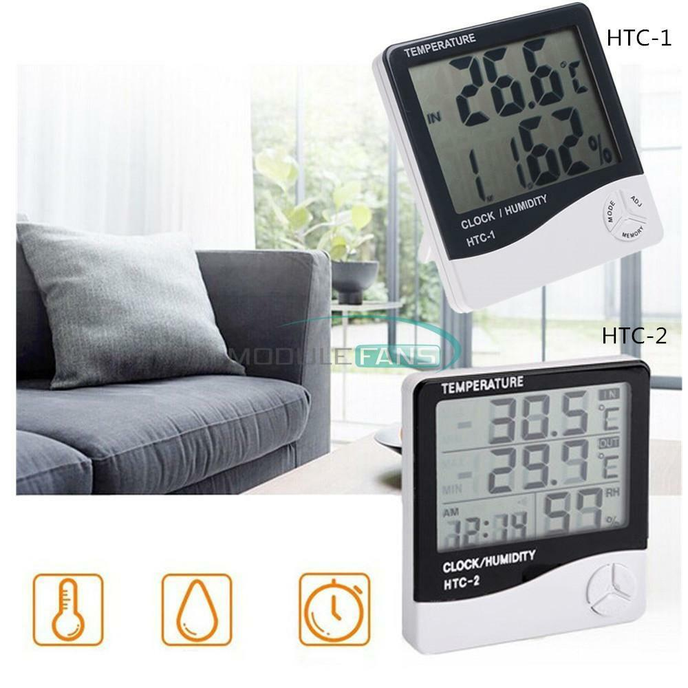 HTC-2 HTC-1 LCD Outdoor Indoor Thermometer Hygrometer Temperature Humidity Meter