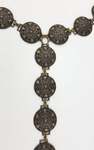Medieval Larp Gewandgürtel Chain Belt Metal Belt Little Shell Brass