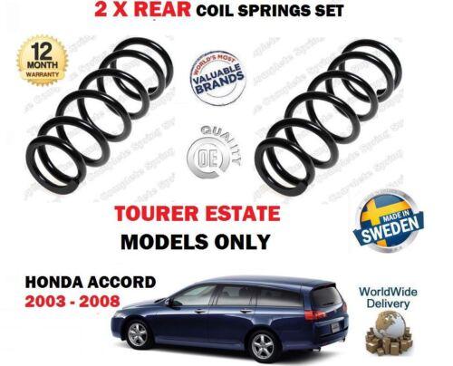 FOR HONDA ACCORD ESTATE TOURER 2003-2008 NEW 2X REAR LEFT RIGHT COIL SPRINGS SET