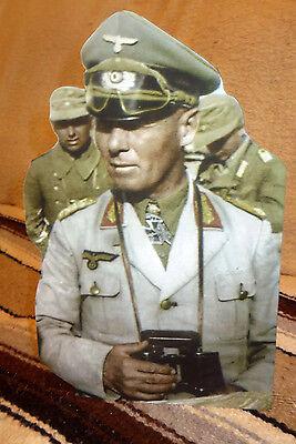 "General Erwin Rommel German World War 2 Figure Tabletop Display Standee 10/"" Tall"