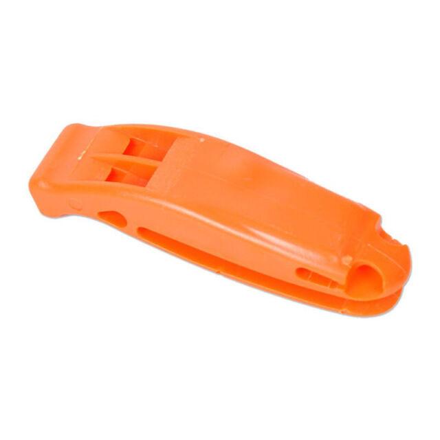 2piece Emergency Safety Whistle Hiking Camping Marine Siren Tool Orange l