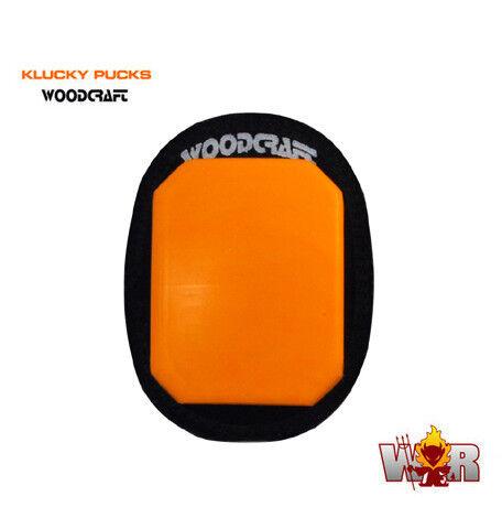 SAVE $$$ ORANGE Pair Klucky Puck Knee Sliders by Woodcraft Brand New