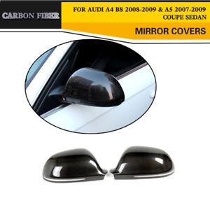 Carbon-Fiber-Rearview-Side-Door-Mirror-Covers-Caps-for-Audi-A4-B8-QUATTRO-08-09