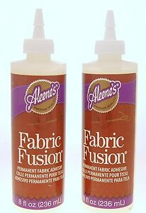 Aleene 39 s fabric fusion 2 x 8 oz permanent fabric adhesive for Craft glue that dries clear