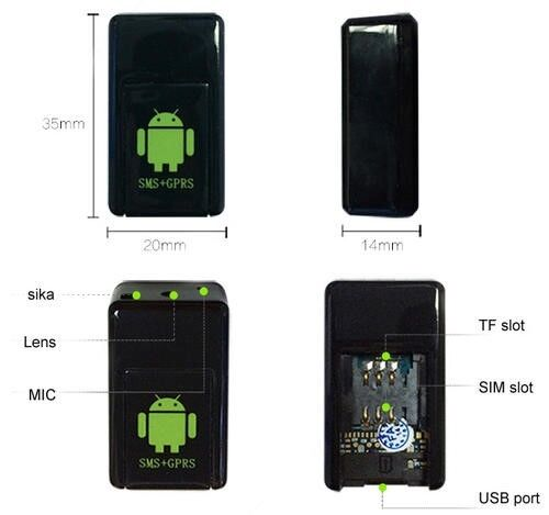 Smallest MMS Locator Photo Video Taking Gsm Gps Tracker with