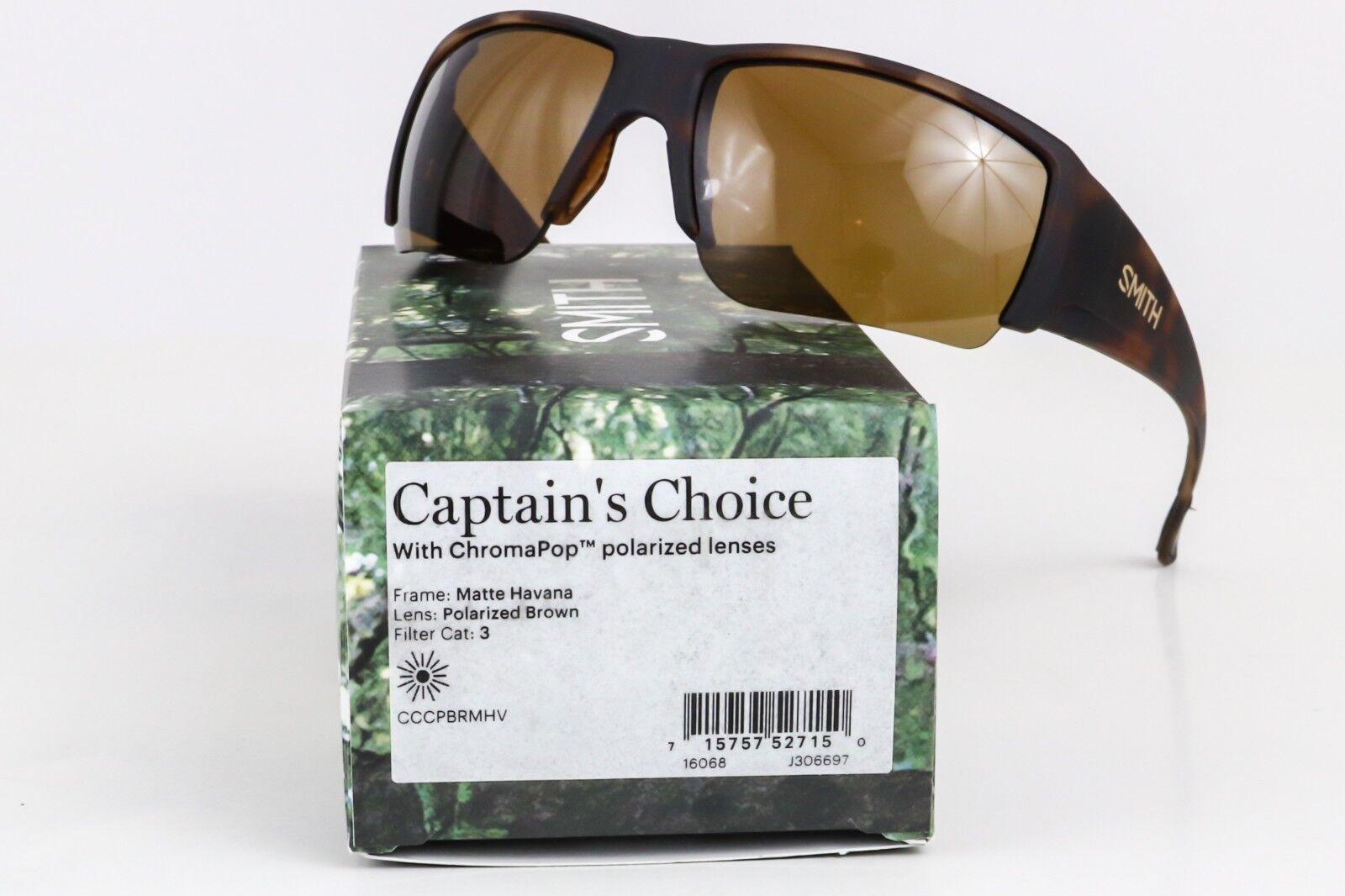 0e82ebf11e Smith Optics Sunglasses Mens Lifestyle Captains Choice Polarized CCCP Matte  Havana Brown