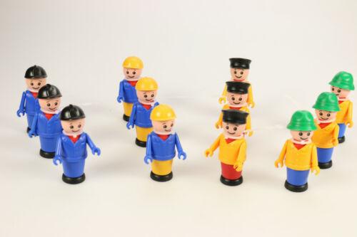 12x LENA Kinder Spielzeug Figur Männchen Bauarbeiter 8cm