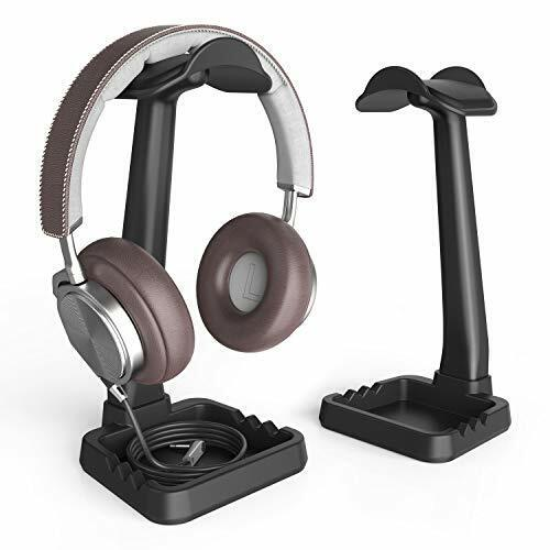 Headphone Stand Built in Cable Clip Organizer and Phone Holder, Klearlook (High