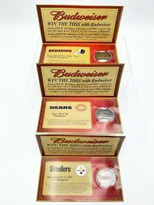 2001-Budweiser-NFL-Super-Bowl-3-Commemorative-Medallions-Bears-Steelers-Redskins