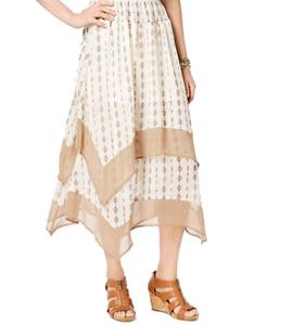 a18e92412d12 Style & Co Skirt Midi Printed Tiered Comfort Waist Diamond Stripe ...