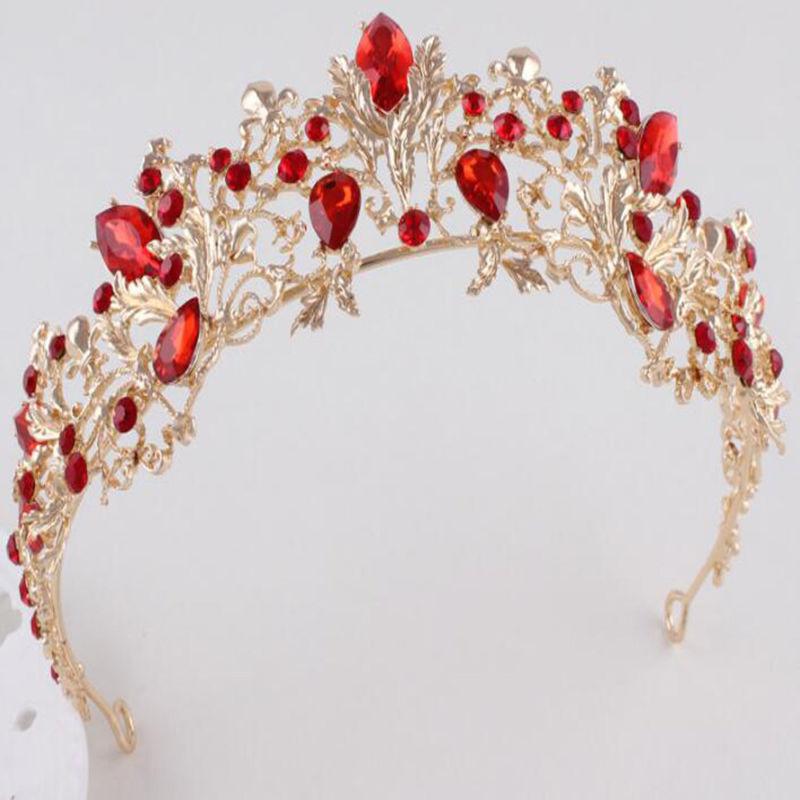 Baroque Vintage Wedding Bridal Queen Crown Tiara Bride Hair Headpiece Headband