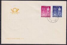 DDR FDC 459 - 460 a con sello días 09.04.1955 Altenburg, First Day cover