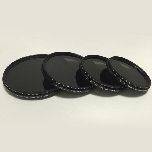Fader Variable ND Filter Einstellbare ND2 zu ND400 Neutral Dichte 49-77mm E8G5
