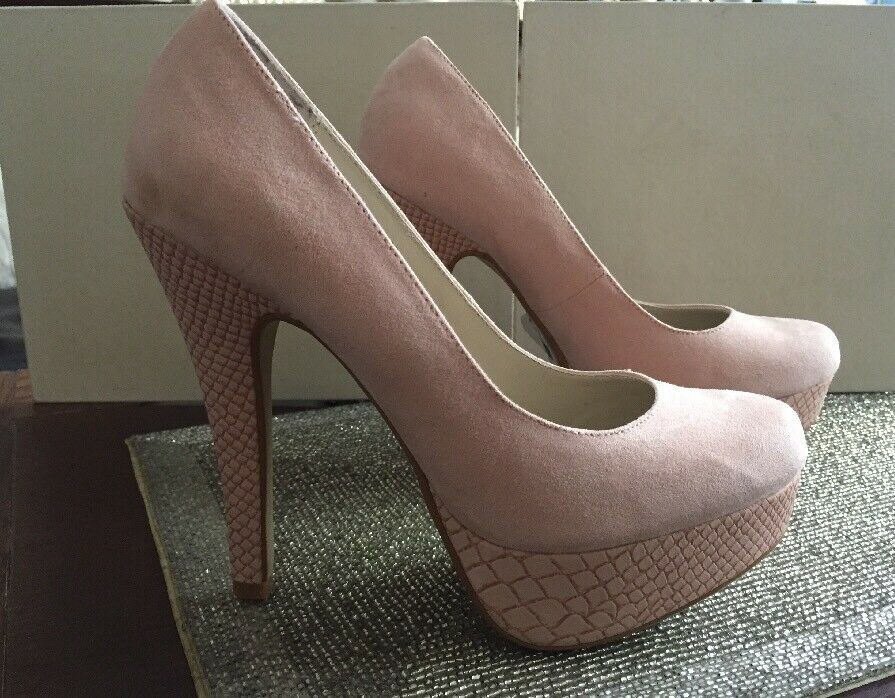 NEW PRIMARK PINK SHOES HEELS PARTY PLATFORMS SIZE 5 WORK PARTY HEELS 4147fe
