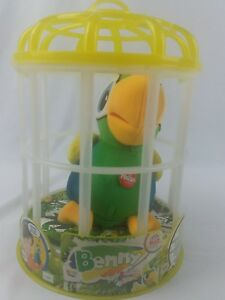 Club Petz Funny Benny By Charlie Funny Talkie Electronic Pet Parrot With Cage Ebay