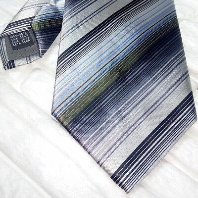 2019 Moda Cravatta Uomo Made In Italy Marchio 100% Righe Multicolore