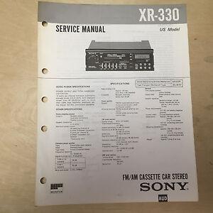 sony service manual for the xr 330 cassette player radio car stereo rh ebay com car stereo service manual leak stereo 30 service manual